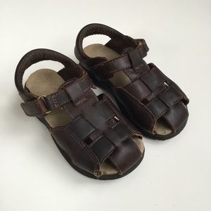 Leather Sandals Angler Fisherman 7.5W Stride Rite